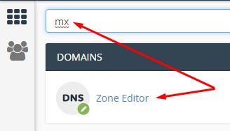 MX - Zone editor CPanel